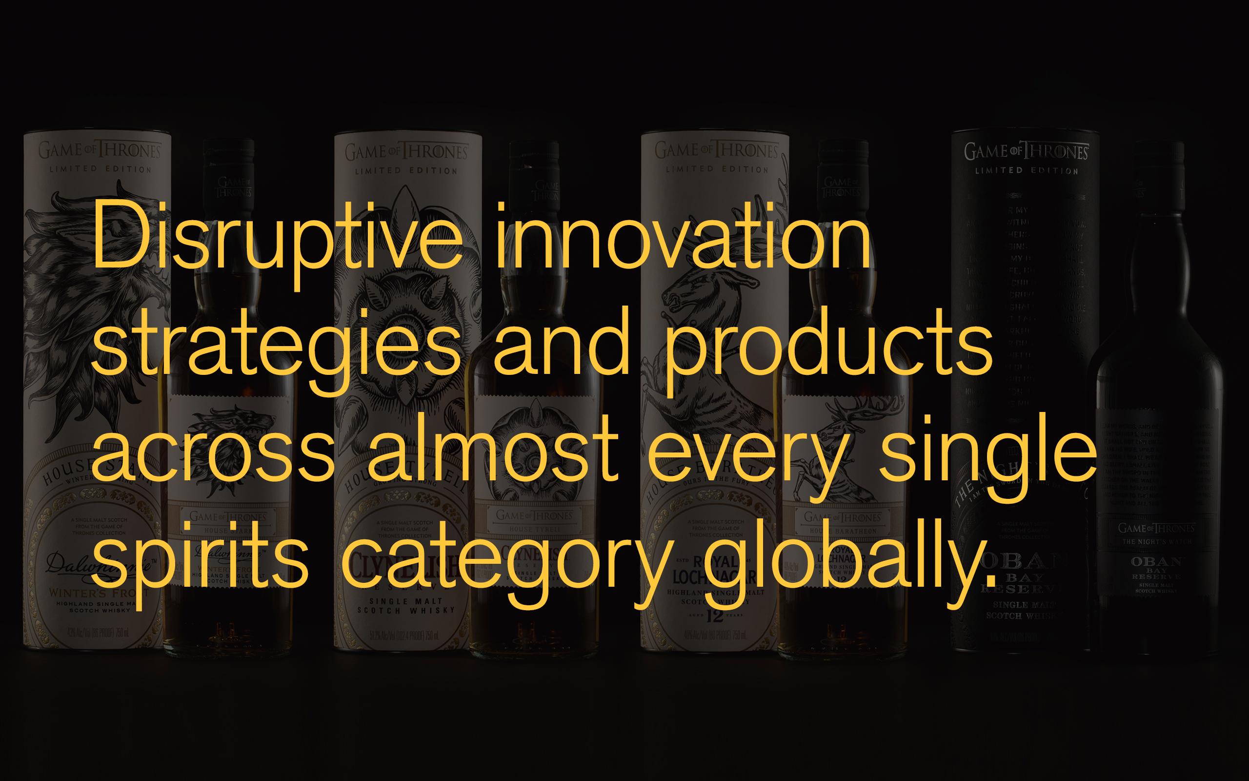 Disruptive innovation in spirits