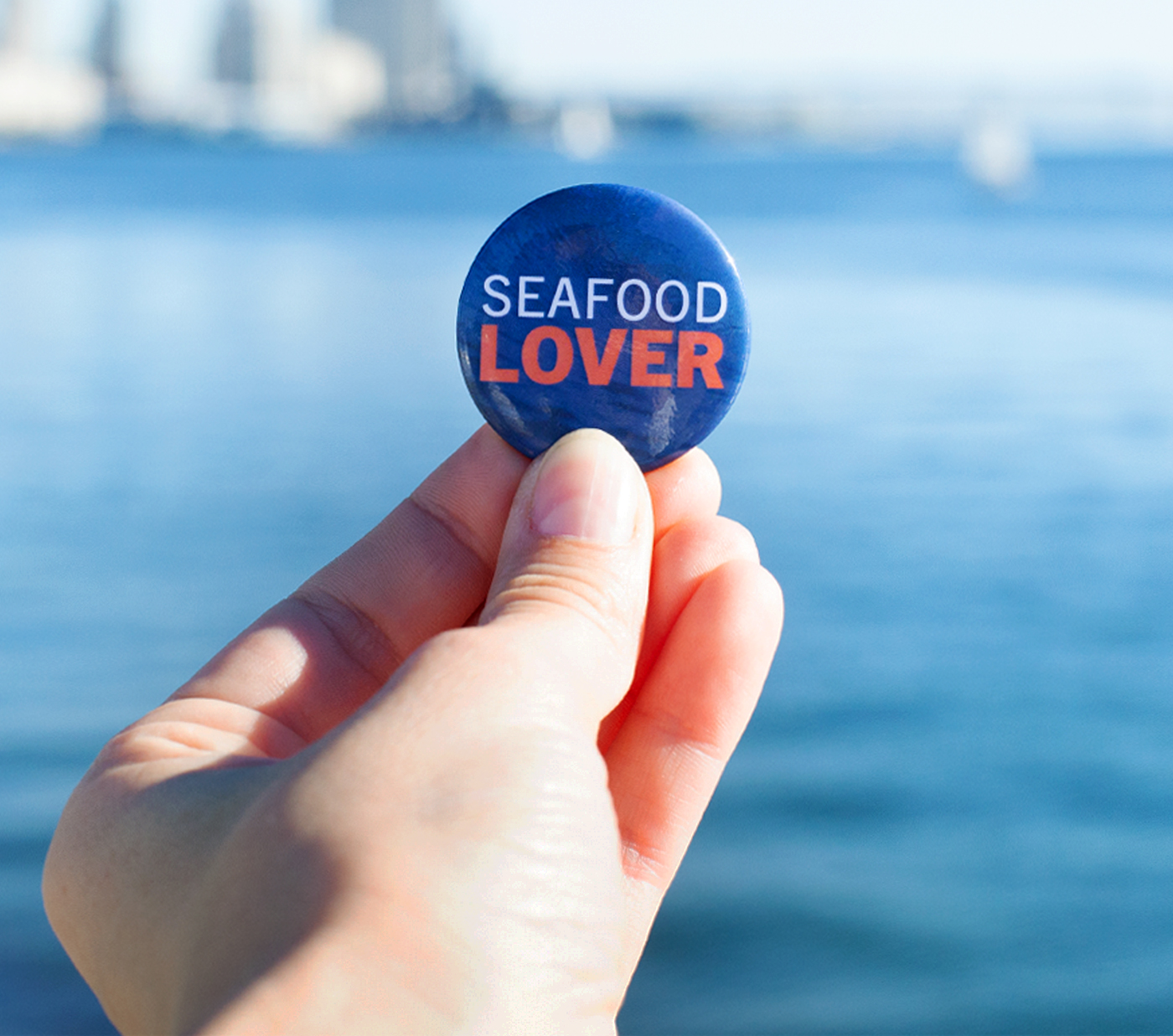 Seafood Lover Button