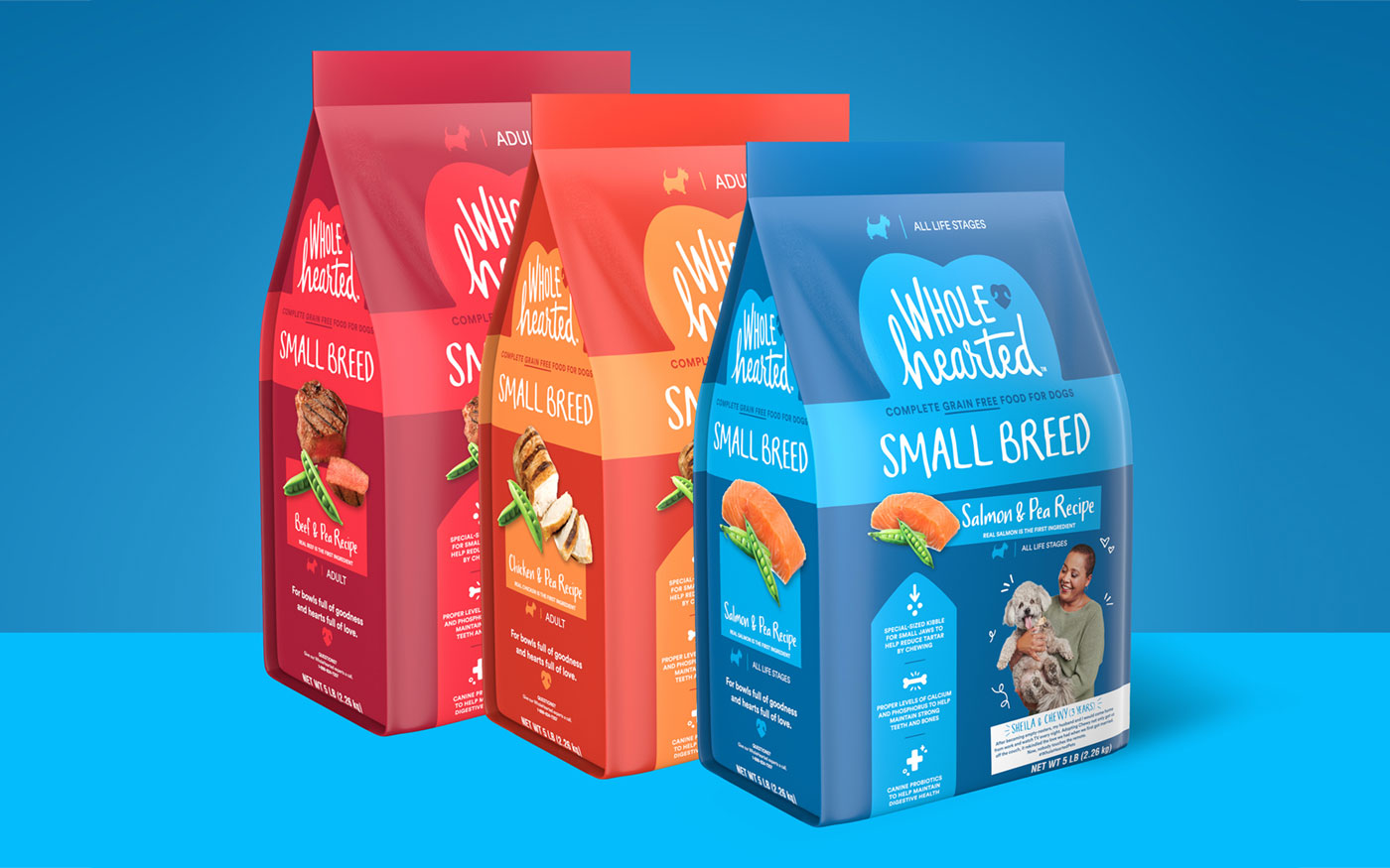 WholeHearted Small Breed Pet Food Line