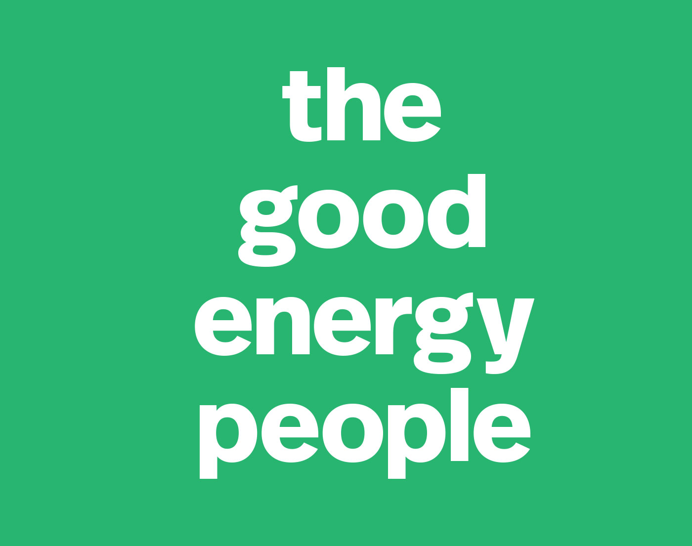 The Good Energy People