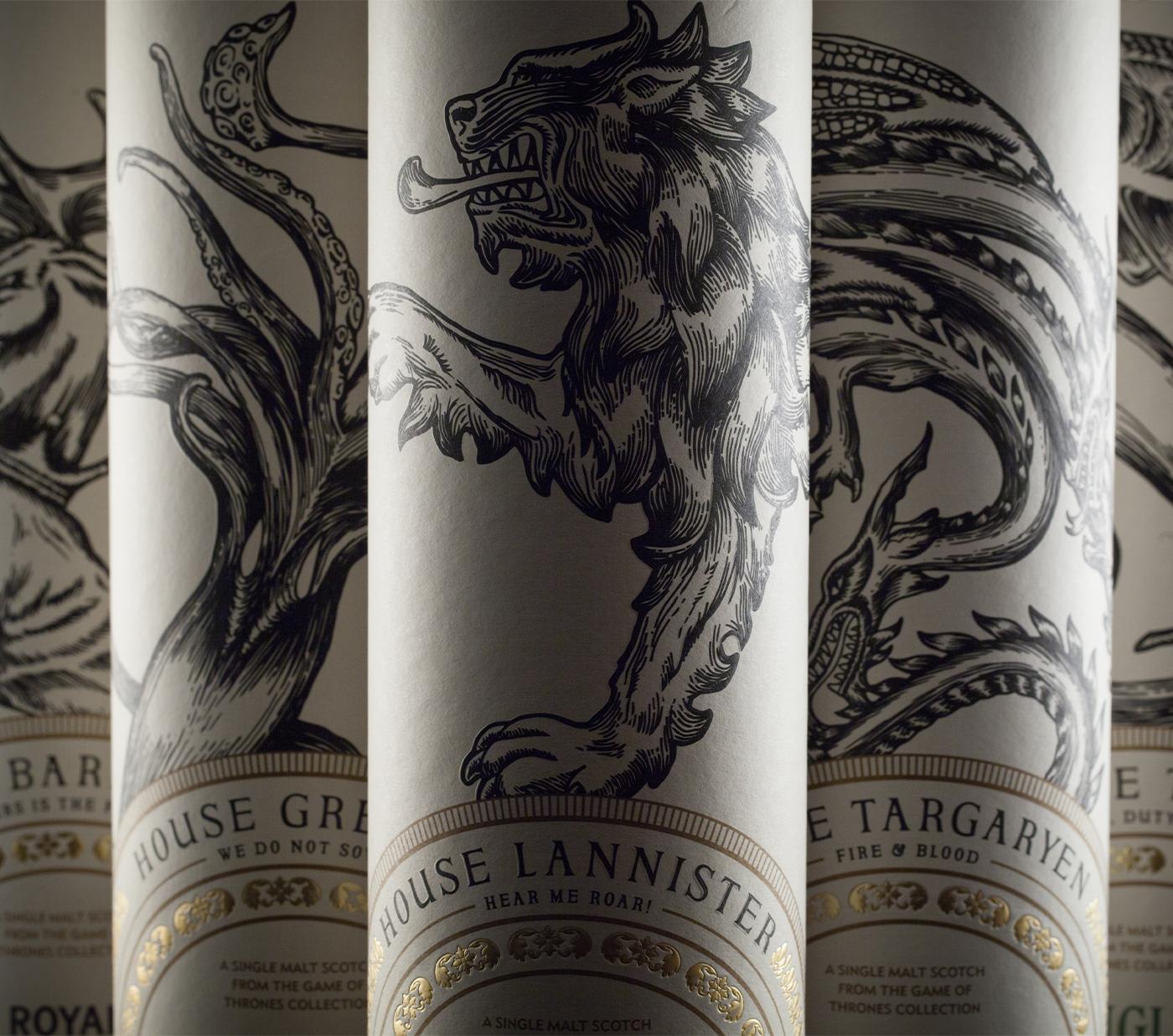 House Lannister Bottle Design