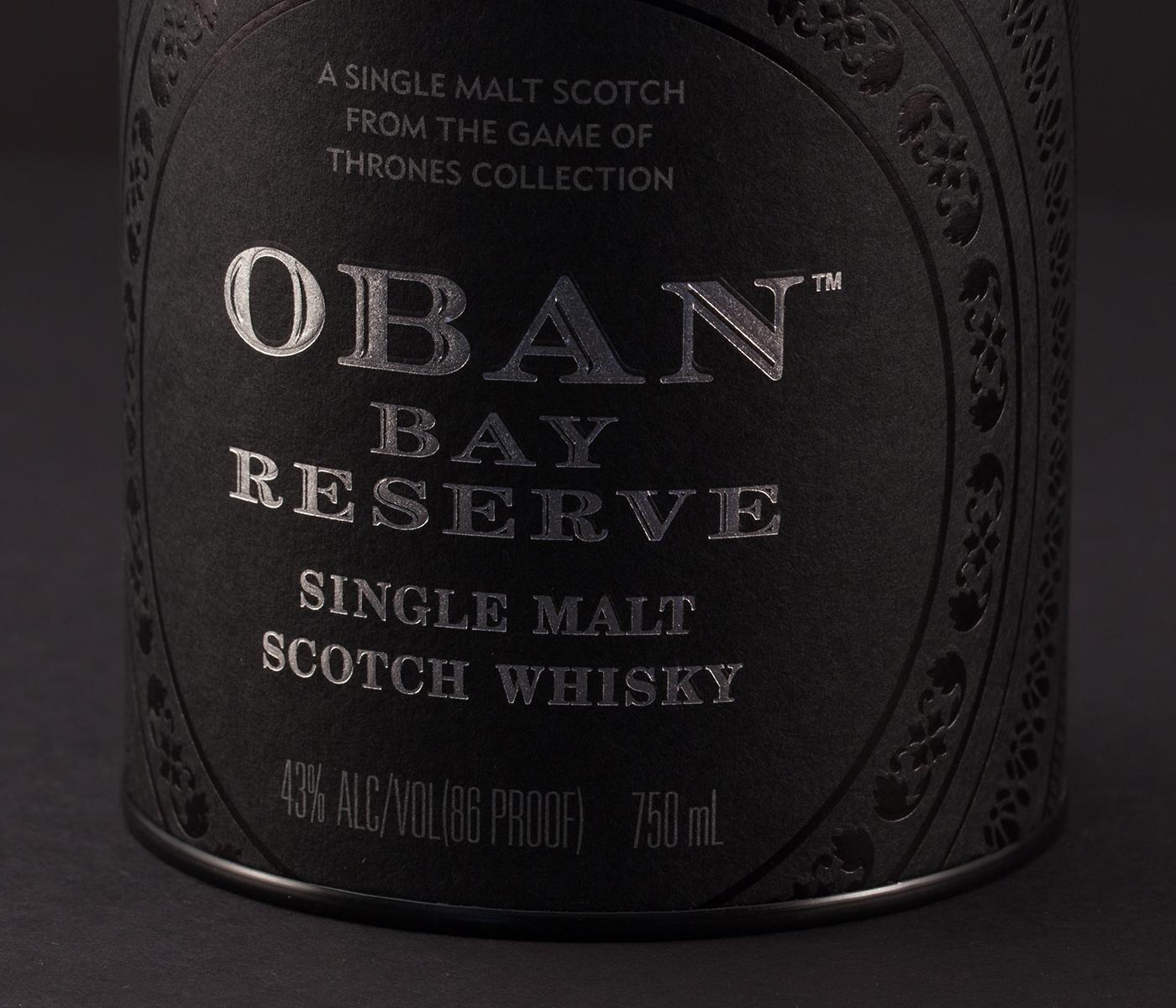 Oban Scotch Whiskey Label