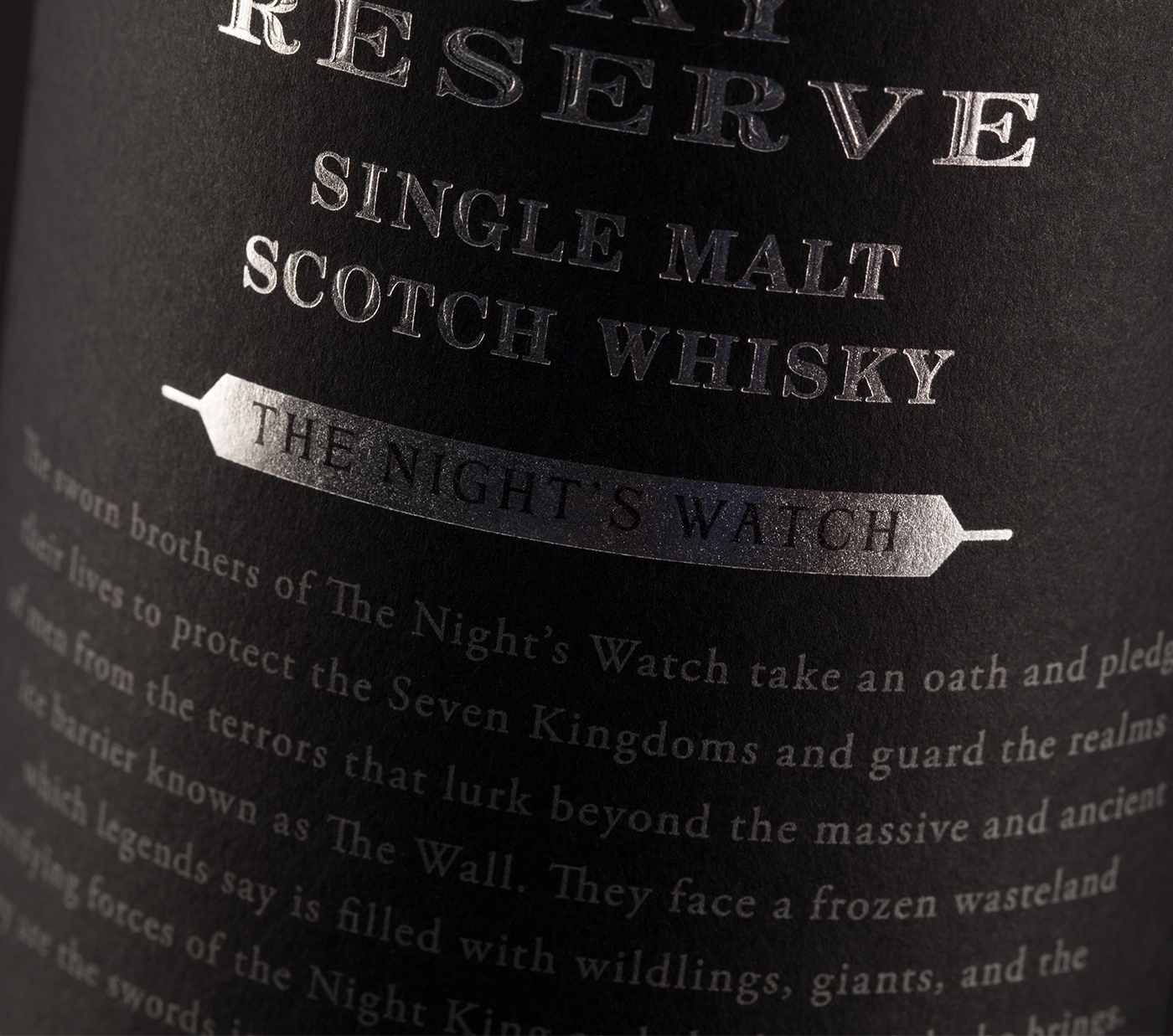 The NIght's Watch Whisky Label