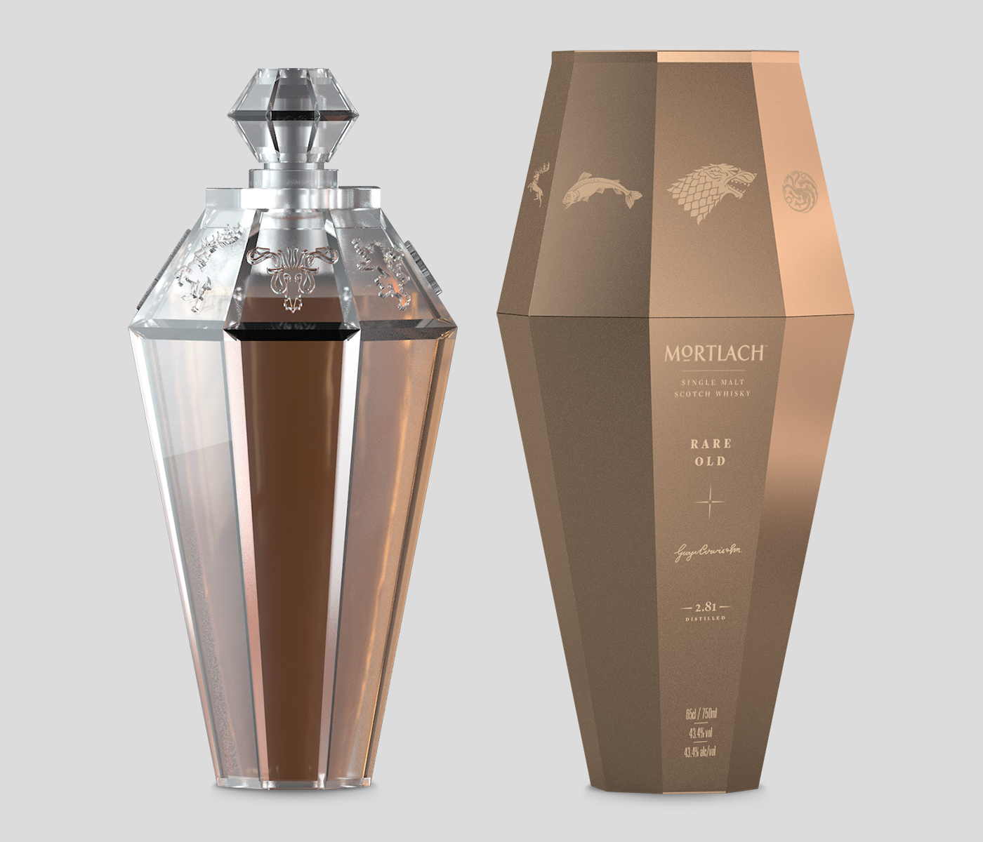 Game of Thrones Mortlach Glass Bottle